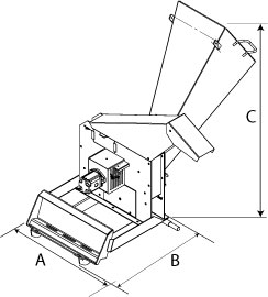 Mini Wood Chipper Dimensions