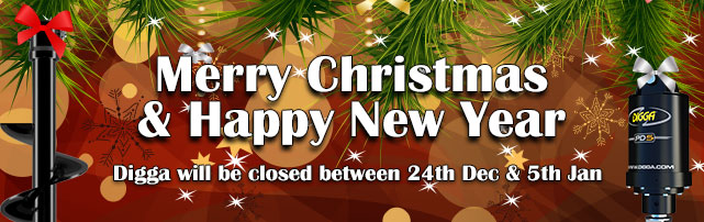 Digga will be closed between 24th Dec & 5th Jan. Merry Christmas and Happy New Year.