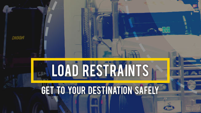 Load restraining guidelines for transporing your Digga products
