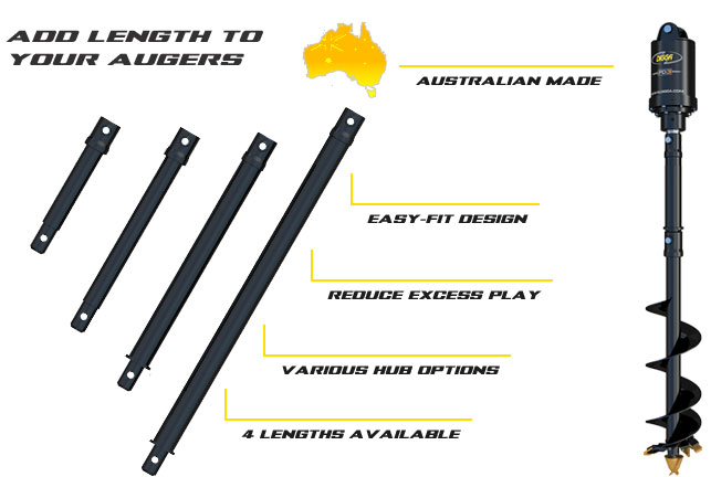 Auger extensions - machines up to 5t
