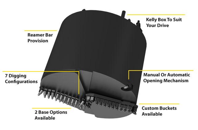 features benefits drilling bucket