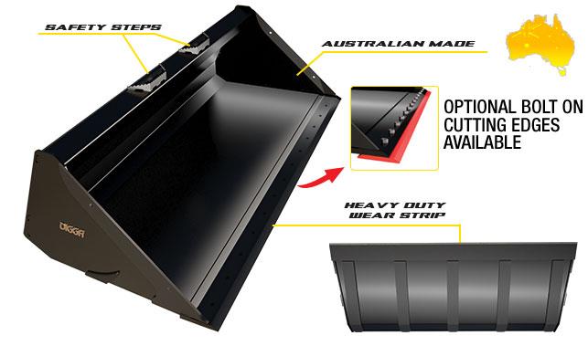 GP Bucket for Skid Steer Loaders - Digga Australia