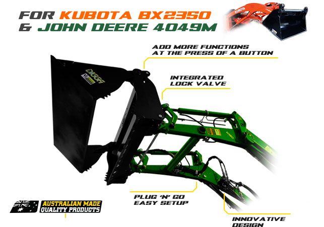 Third function valve kit for selected Kubota and John Deere