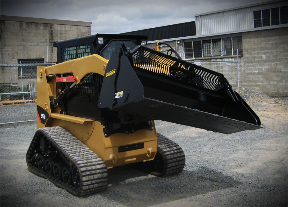 Tilting 4 in 1 Bucket for Skid Steer, Front End Loaders, and