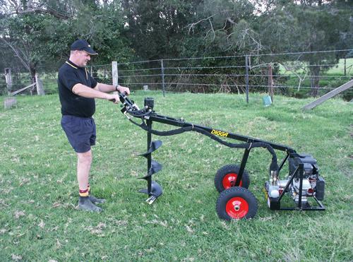 One Man Post Hole Borer Australian Made One Man Drilling