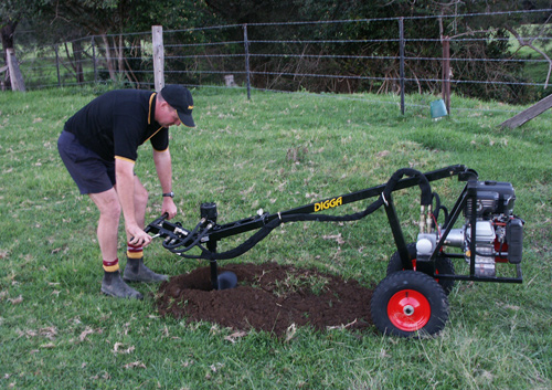 One Man Post Hole Borer - Australian Made One Man Drilling