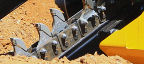 Mini Bigfoot trencher - Anti-back flex chain design - Digga Australia