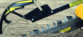 Mini Bigfoot trencher - Heavy duty crumbing system - Digga Australia