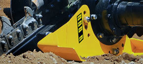 Mini Bigfoot trencher - Adjustable depth skid foot - Digga Australia