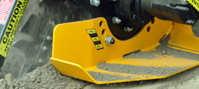 Bigfoot XD trencher - Adjustable depth skid foot - Digga Australia