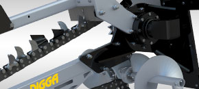 Hydrive trencher - Unique drive system positioning - Digga Australia